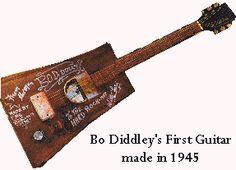 Bo Diddley's first guitar replica Bo_did10