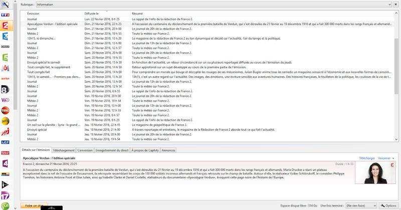 Captvty un logiciel de téléchargement du Replay gratuit sur Windows ET MAC! Captv10