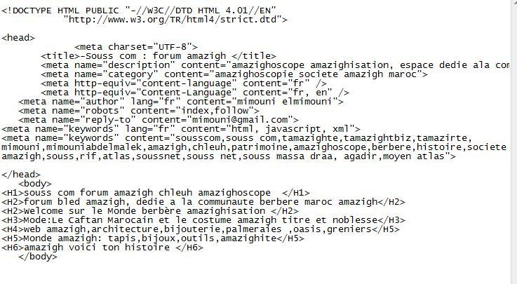 gabarit page html avec toutes balises Gabari10