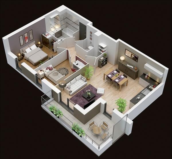 Plan de l'appartement Plan-m10