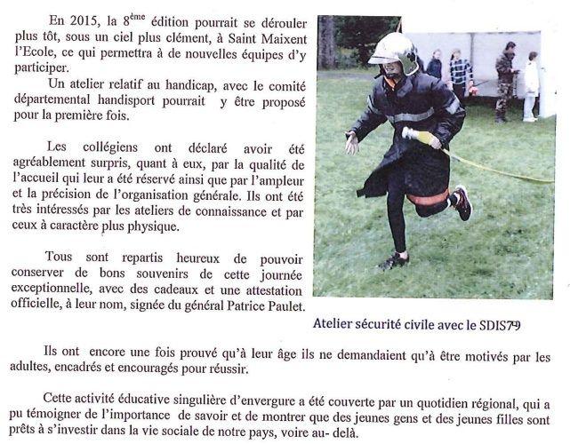 Etre cadet de la Défense.  Rallye14