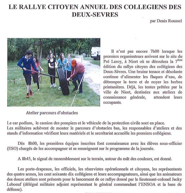 Etre cadet de la Défense.  Rallye15