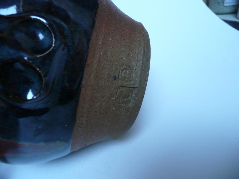 2 studio pottery jugs  P1080915