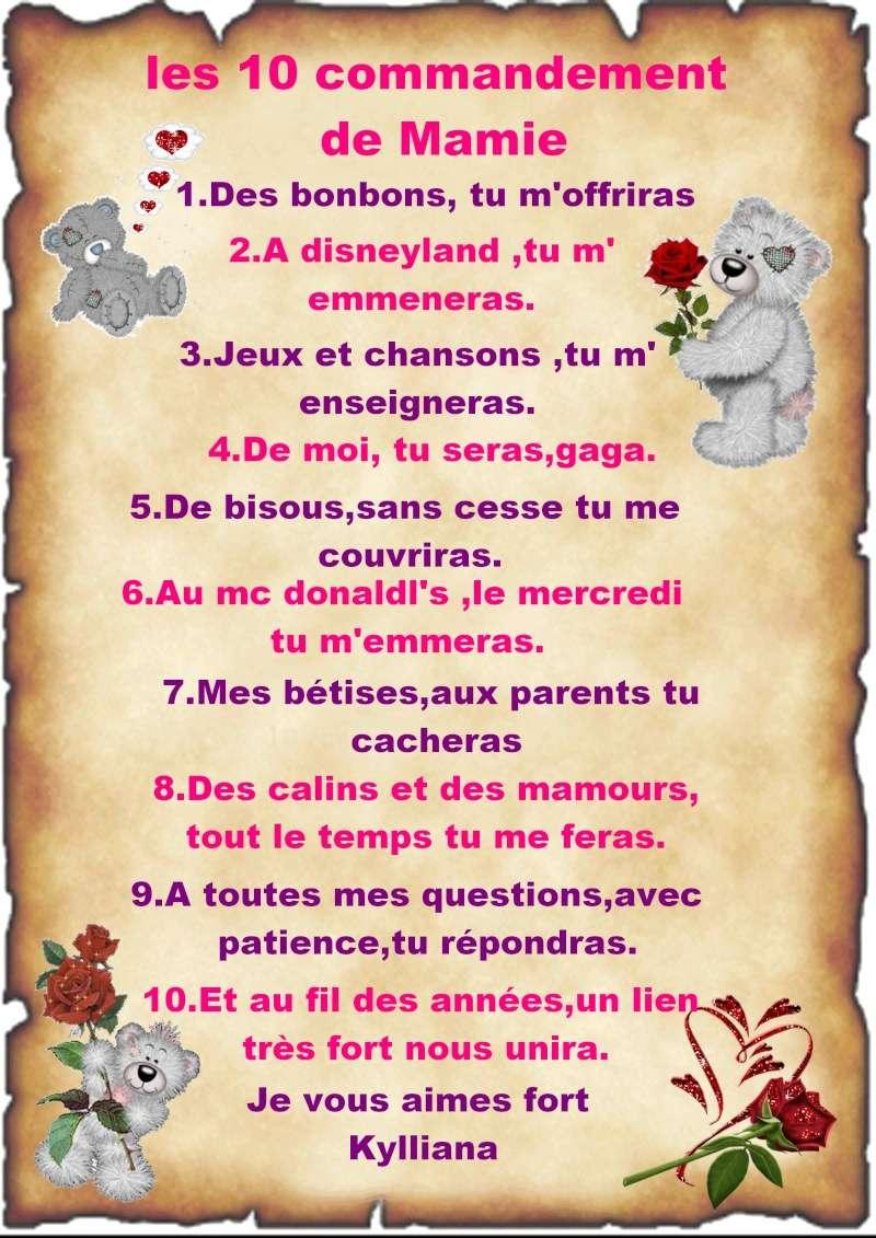 Les 10 commandement de mamie  Mamie10