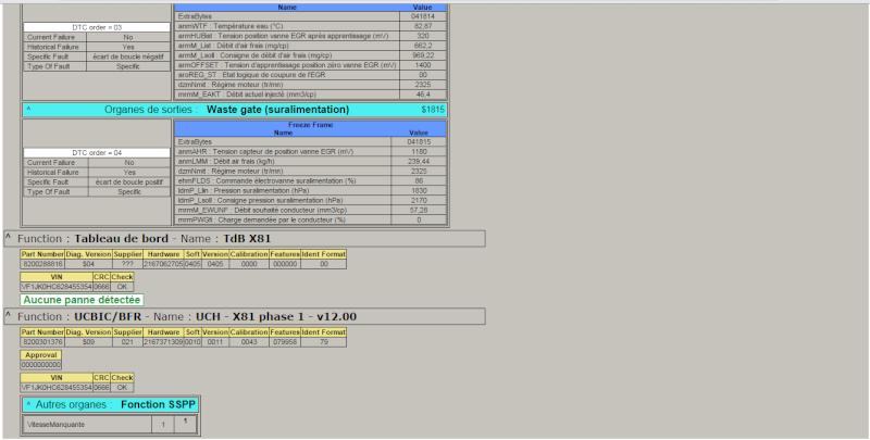 Diag DDT2000 Espace IV 2,2 dCI 150 Panne310