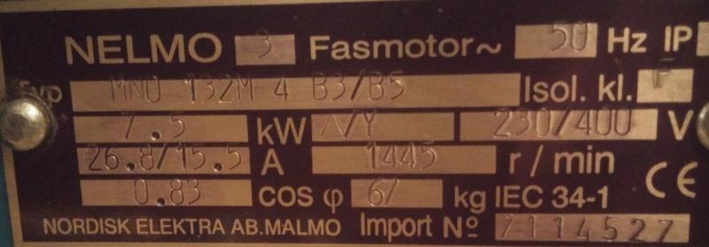 Recherche de l'aide pour raccorder un tour et ses commandes avec un moteur tri 7,5 KW Plaque12
