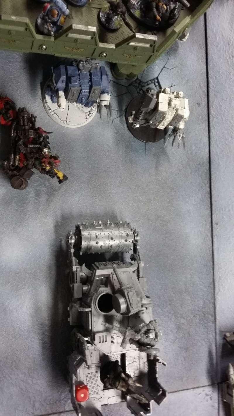 """Rapport de bataille Warhammer 40 000 du samedi 27 fevrier : scenario ORKS/SPACE WOLVES - """"Bataille pour du karbu"""" 1-1_ch10"""