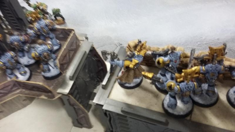 "Rapport de bataille Warhammer 40 000 du samedi 27 fevrier : scenario ORKS/SPACE WOLVES - ""Bataille pour du karbu"" 1-le_p10"