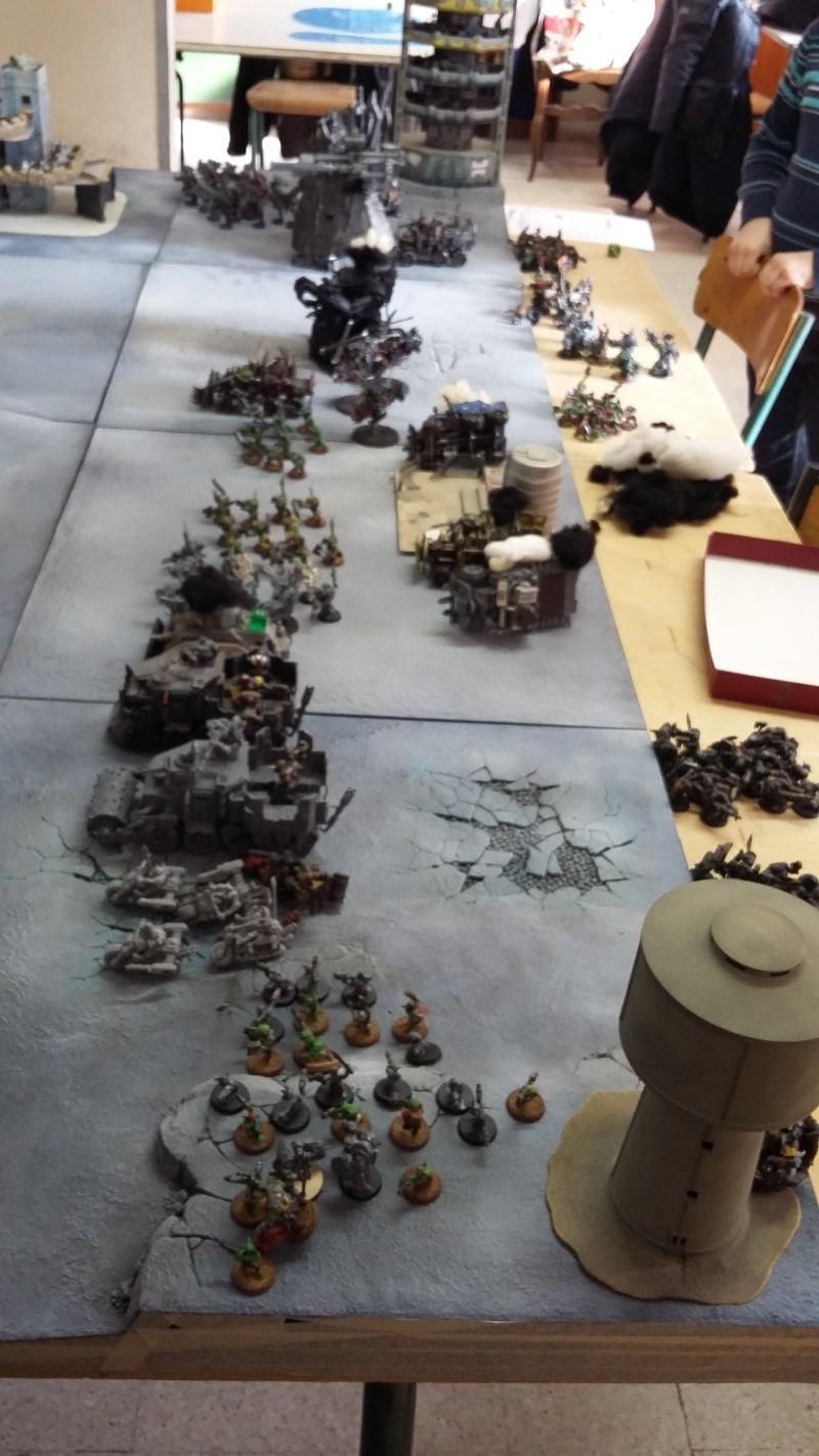 """Rapport de bataille Warhammer 40 000 du samedi 27 fevrier : scenario ORKS/SPACE WOLVES - """"Bataille pour du karbu"""" 1-on_f10"""