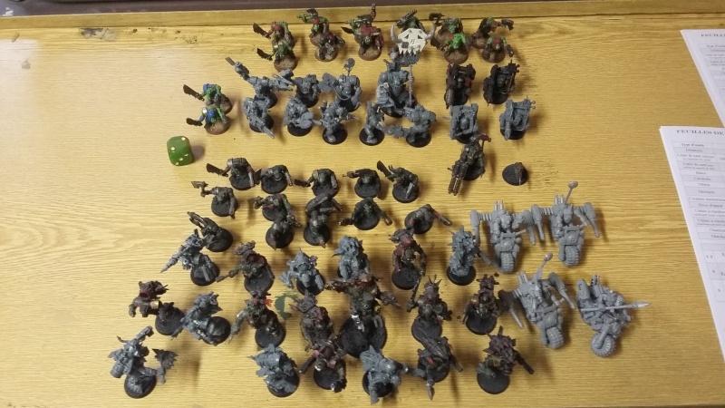 """Rapport de bataille Warhammer 40 000 du samedi 27 fevrier : scenario ORKS/SPACE WOLVES - """"Bataille pour du karbu"""" 1_les_10"""