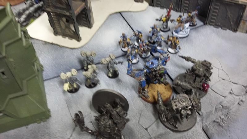 """Rapport de bataille Warhammer 40 000 du samedi 27 fevrier : scenario ORKS/SPACE WOLVES - """"Bataille pour du karbu"""" 2-1_bo10"""