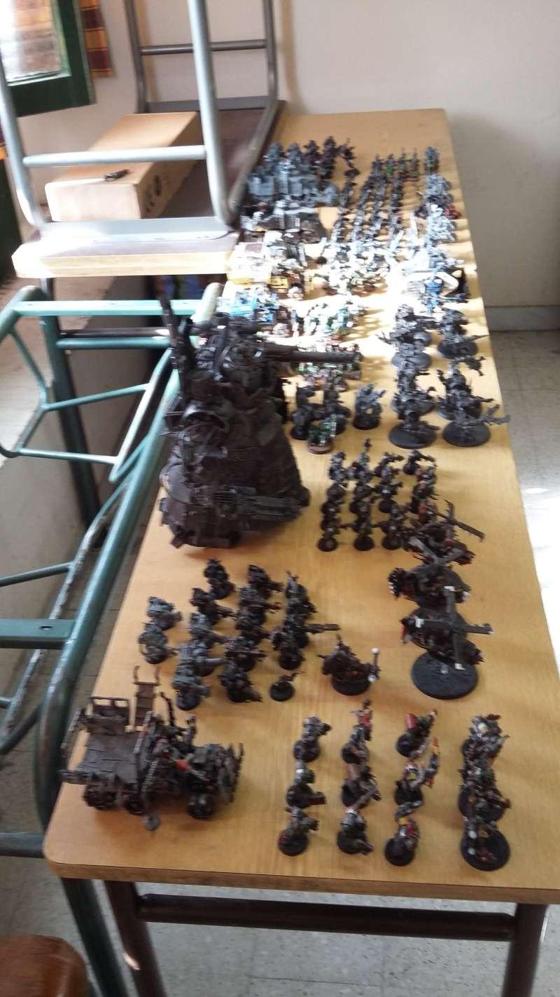 """Rapport de bataille Warhammer 40 000 du samedi 27 fevrier : scenario ORKS/SPACE WOLVES - """"Bataille pour du karbu"""" 36710"""