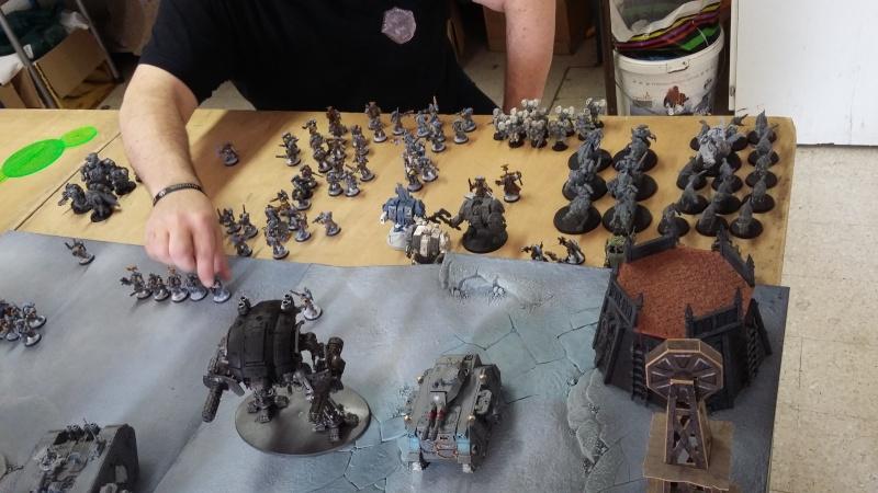 """Rapport de bataille Warhammer 40 000 du samedi 27 fevrier : scenario ORKS/SPACE WOLVES - """"Bataille pour du karbu"""" 37011"""
