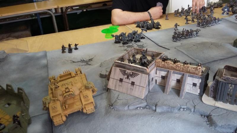 """Rapport de bataille Warhammer 40 000 du samedi 27 fevrier : scenario ORKS/SPACE WOLVES - """"Bataille pour du karbu"""" 37210"""