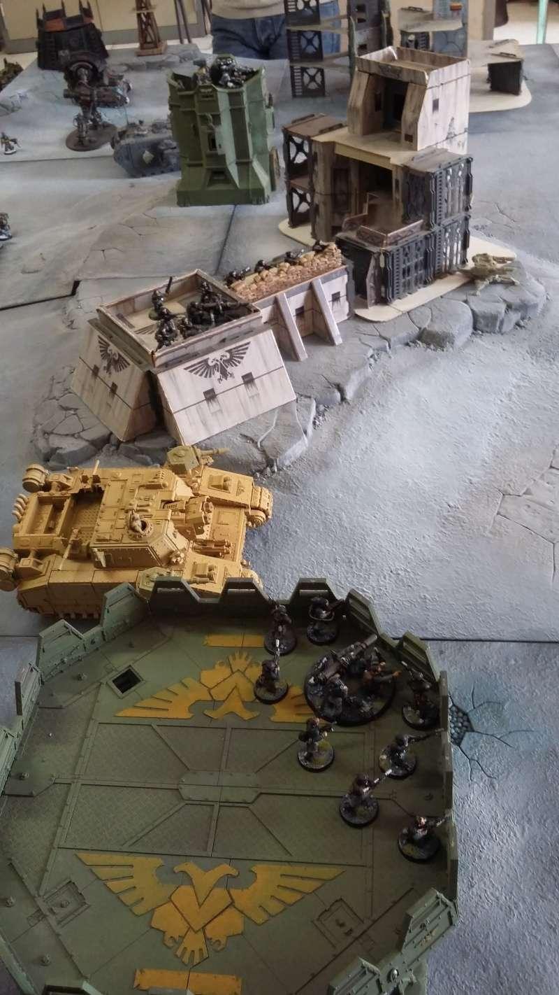 """Rapport de bataille Warhammer 40 000 du samedi 27 fevrier : scenario ORKS/SPACE WOLVES - """"Bataille pour du karbu"""" 37310"""