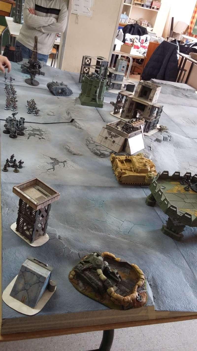 """Rapport de bataille Warhammer 40 000 du samedi 27 fevrier : scenario ORKS/SPACE WOLVES - """"Bataille pour du karbu"""" 37410"""