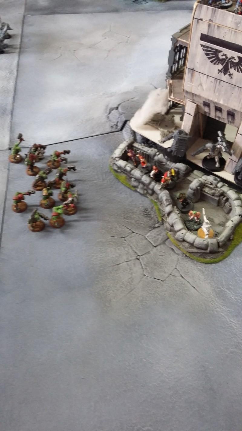 """Rapport de bataille Warhammer 40 000 du samedi 27 fevrier : scenario ORKS/SPACE WOLVES - """"Bataille pour du karbu"""" 4-char10"""