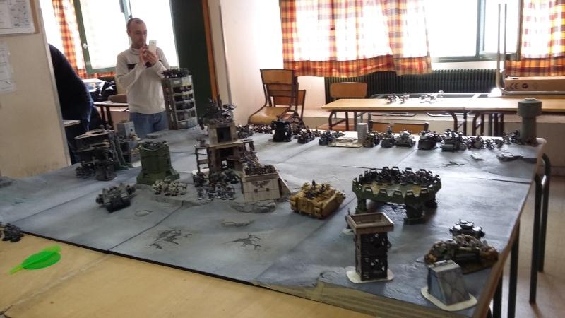 """Rapport de bataille Warhammer 40 000 du samedi 27 fevrier : scenario ORKS/SPACE WOLVES - """"Bataille pour du karbu"""" 40210"""