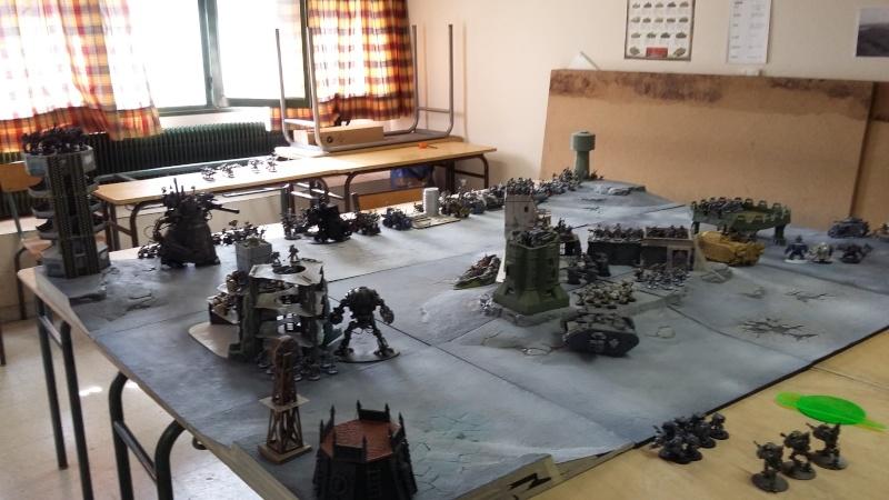 """Rapport de bataille Warhammer 40 000 du samedi 27 fevrier : scenario ORKS/SPACE WOLVES - """"Bataille pour du karbu"""" 40310"""