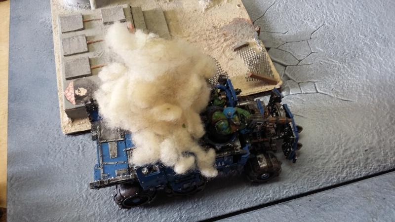 """Rapport de bataille Warhammer 40 000 du samedi 27 fevrier : scenario ORKS/SPACE WOLVES - """"Bataille pour du karbu"""" 40810"""