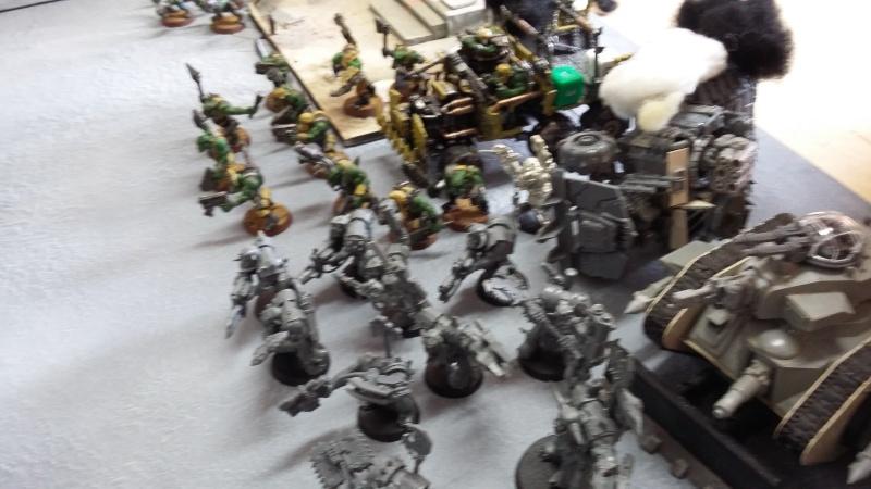 """Rapport de bataille Warhammer 40 000 du samedi 27 fevrier : scenario ORKS/SPACE WOLVES - """"Bataille pour du karbu"""" 41310"""