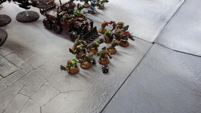 """Rapport de bataille Warhammer 40 000 du samedi 27 fevrier : scenario ORKS/SPACE WOLVES - """"Bataille pour du karbu"""" 42410"""