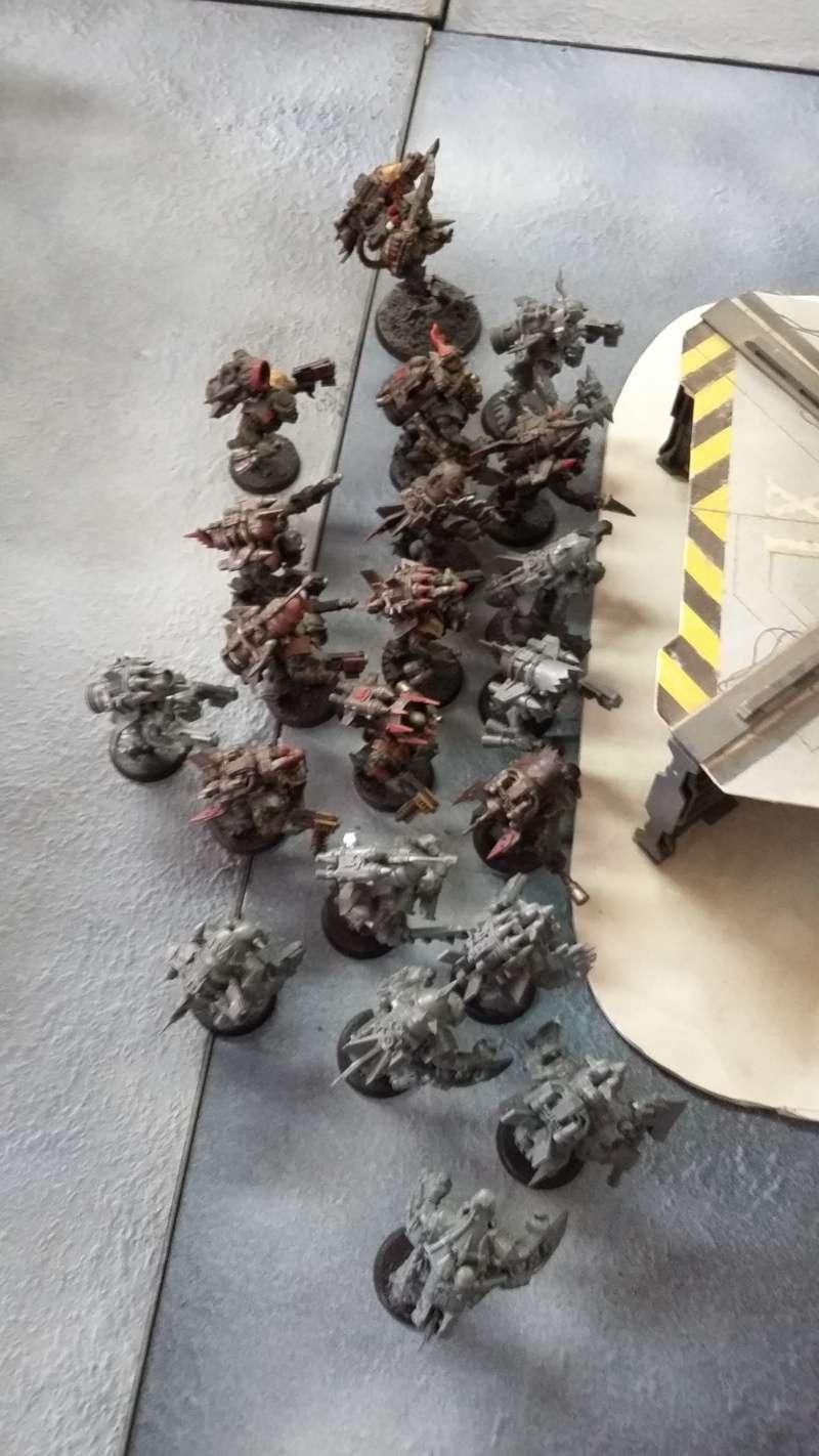 """Rapport de bataille Warhammer 40 000 du samedi 27 fevrier : scenario ORKS/SPACE WOLVES - """"Bataille pour du karbu"""" 43110"""