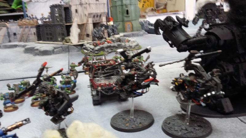 """Rapport de bataille Warhammer 40 000 du samedi 27 fevrier : scenario ORKS/SPACE WOLVES - """"Bataille pour du karbu"""" 43910"""
