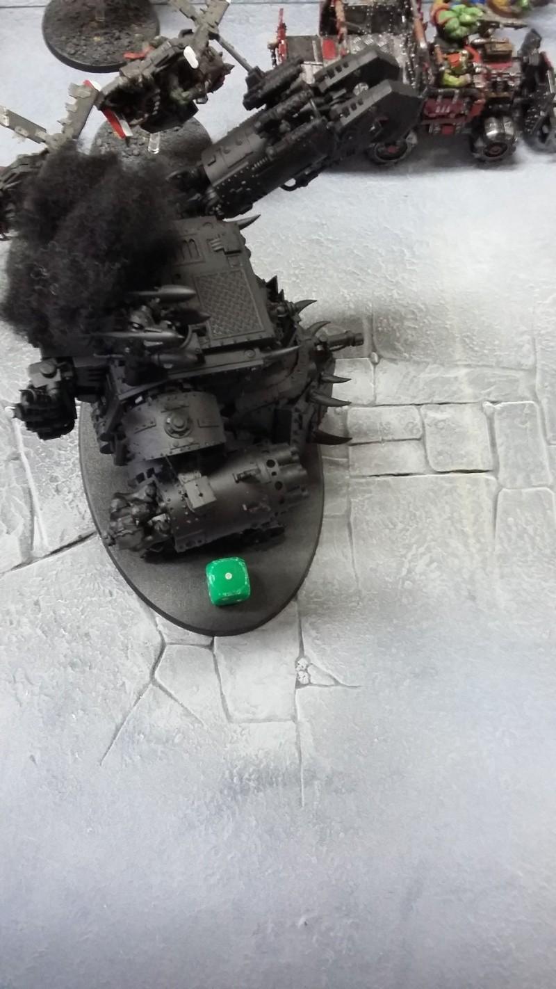 """Rapport de bataille Warhammer 40 000 du samedi 27 fevrier : scenario ORKS/SPACE WOLVES - """"Bataille pour du karbu"""" 45610"""