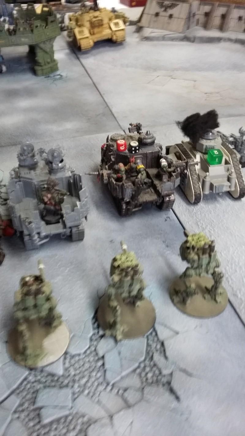 """Rapport de bataille Warhammer 40 000 du samedi 27 fevrier : scenario ORKS/SPACE WOLVES - """"Bataille pour du karbu"""" 46410"""