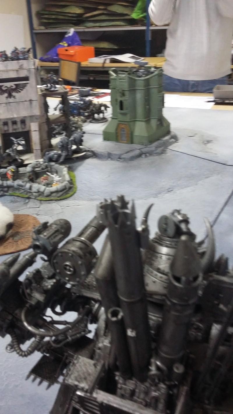 """Rapport de bataille Warhammer 40 000 du samedi 27 fevrier : scenario ORKS/SPACE WOLVES - """"Bataille pour du karbu"""" 48210"""