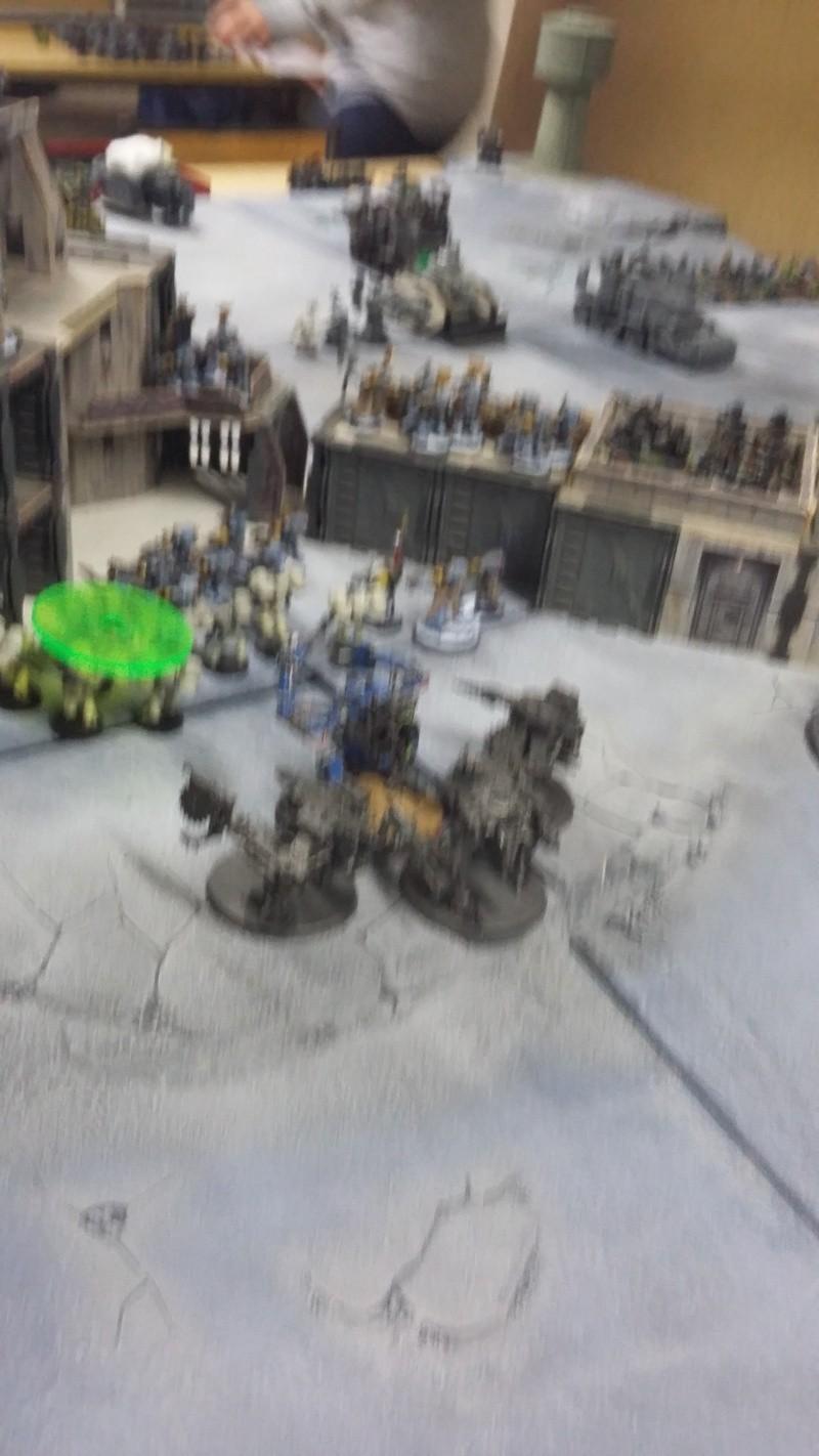 """Rapport de bataille Warhammer 40 000 du samedi 27 fevrier : scenario ORKS/SPACE WOLVES - """"Bataille pour du karbu"""" 49510"""