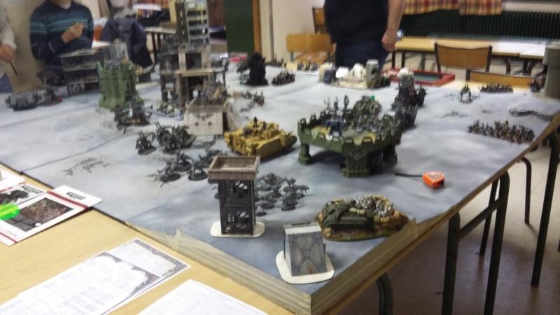 """Rapport de bataille Warhammer 40 000 du samedi 27 fevrier : scenario ORKS/SPACE WOLVES - """"Bataille pour du karbu"""" 50410"""