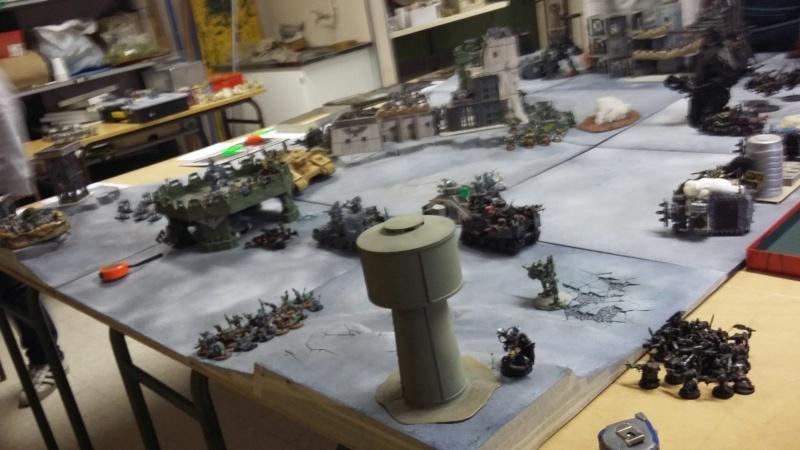 """Rapport de bataille Warhammer 40 000 du samedi 27 fevrier : scenario ORKS/SPACE WOLVES - """"Bataille pour du karbu"""" 50510"""