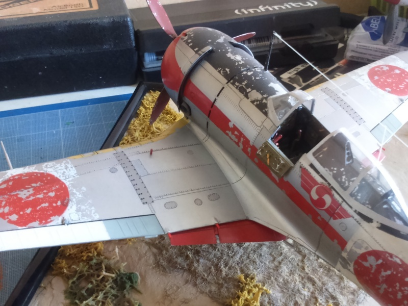 atterissage du KI 44 hasegawa 1 32 éme Dsc_0112
