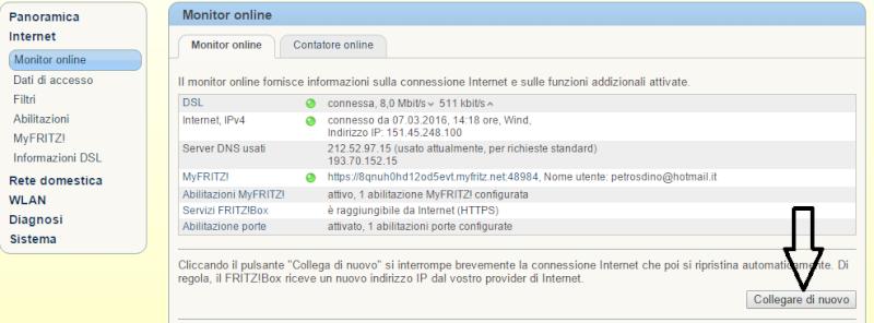 3272 - cambiare ip senza spegnere il modem Area110
