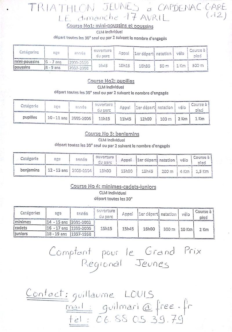 Triathlon jeunes à  Capdenac, 17 avril Capden10