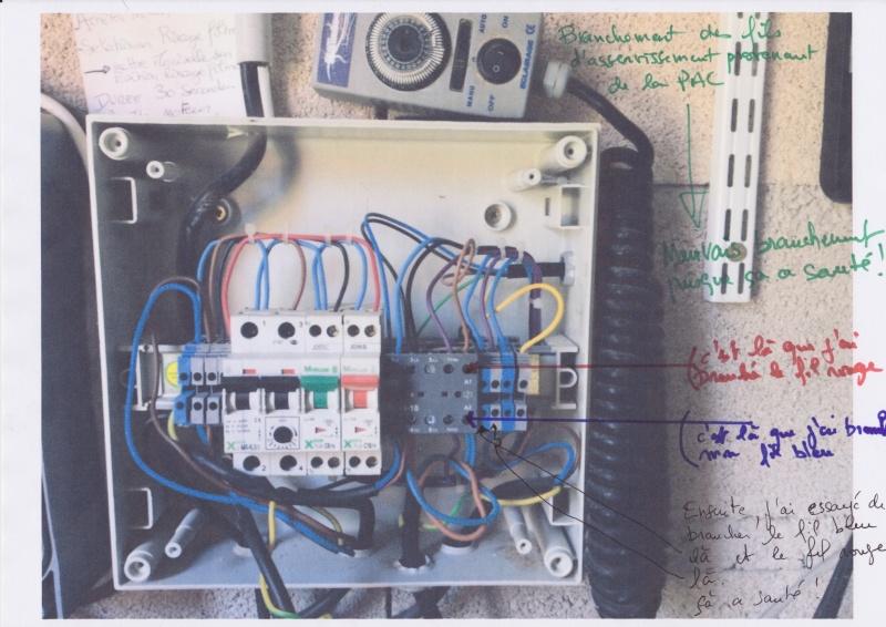 Branchement électrique PAC o'clair sur tableau Diffazur Branch11