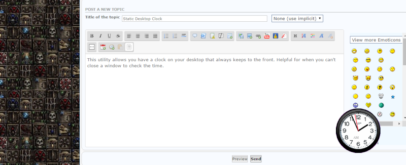 Static Desktop Clock Clockp10