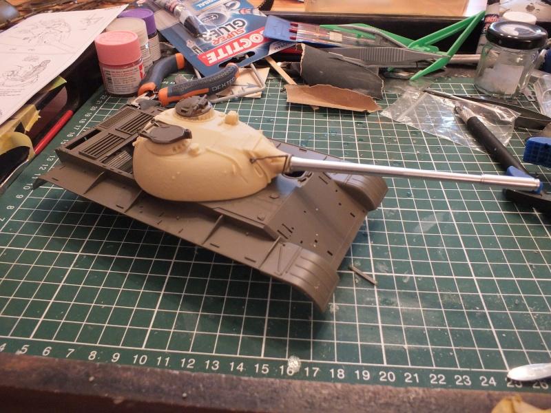 Tamiya T55 A 1/35 réf: 3257 avec tourelle Verlinden , char détruit en Afghanistan. Dscf8955