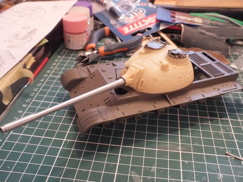 Tamiya T55 A 1/35 réf: 3257 avec tourelle Verlinden , char détruit en Afghanistan. Dscf8956