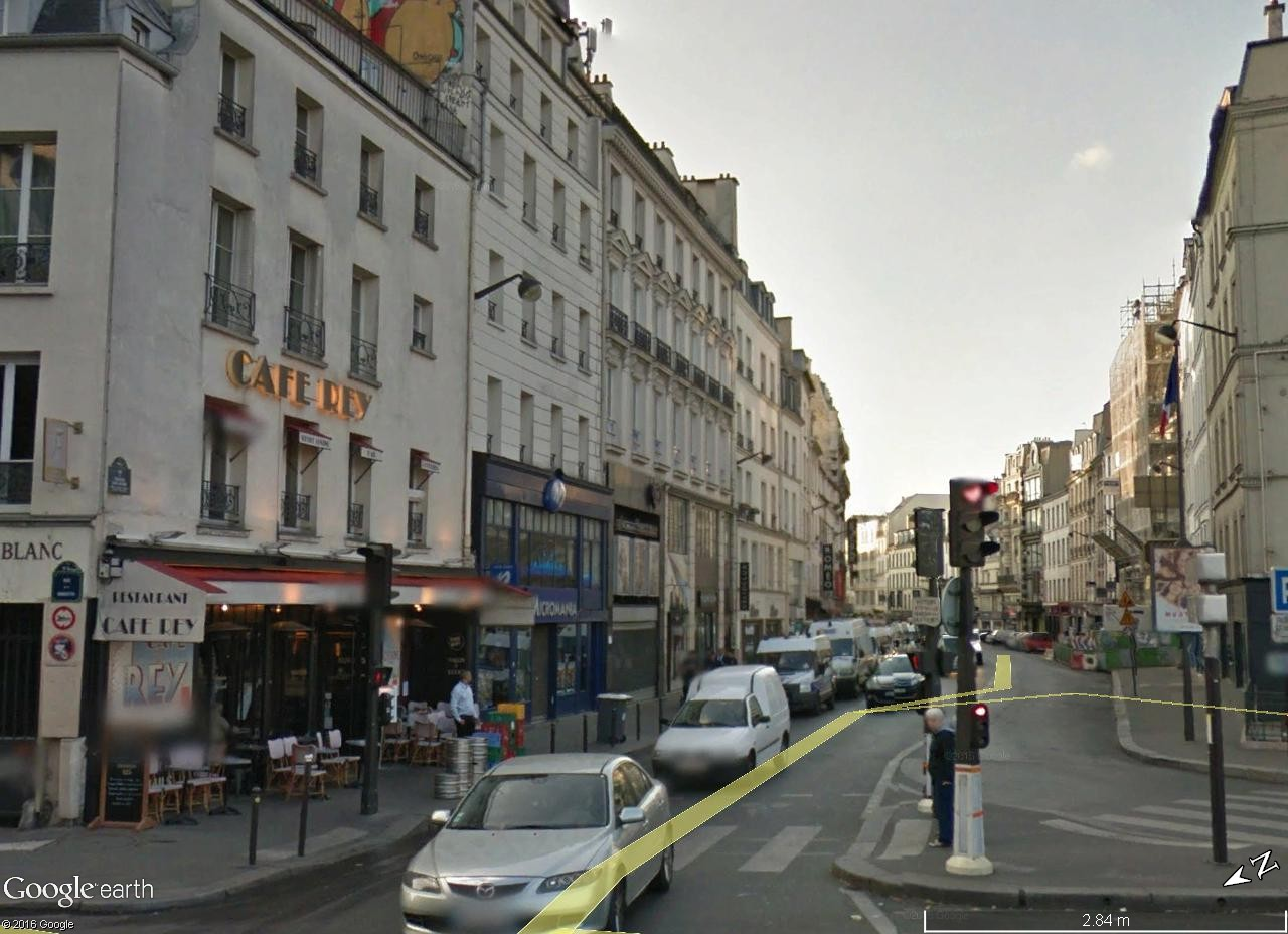 A la poursuite des images de Robert Doisneau en vue Street View Robert11