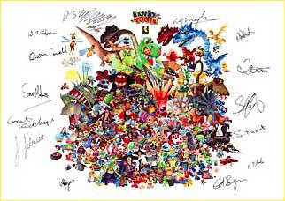 Tous les objets officiel/goodies Banjo-Kazooie Signed10