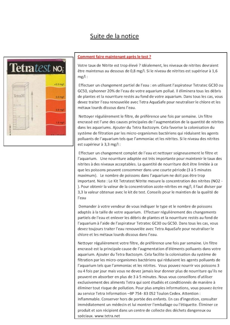 Cherche notice Tetratest NO2- Tetrat11