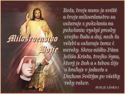 MODLIME SA PRIATELIA SPOLU KORUNKU BOŽIEHO MILOSRDENSTVA...... 12143210