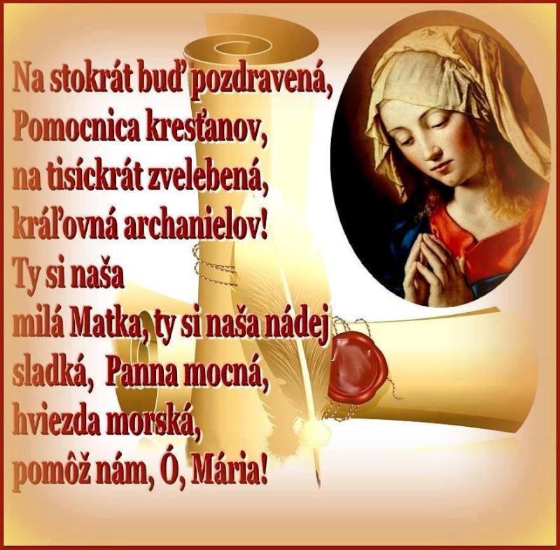 Modlitba k Panne Márii 99670010
