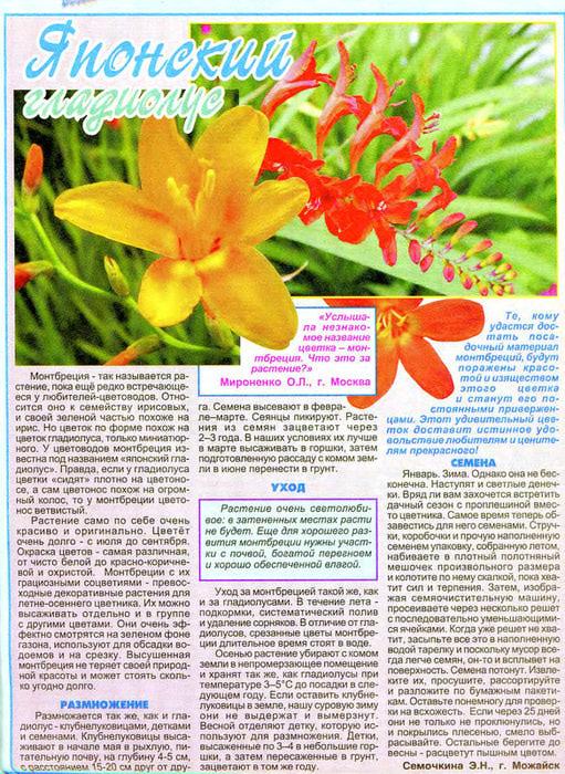 статьи о растениях из  газет и журналов 88448410