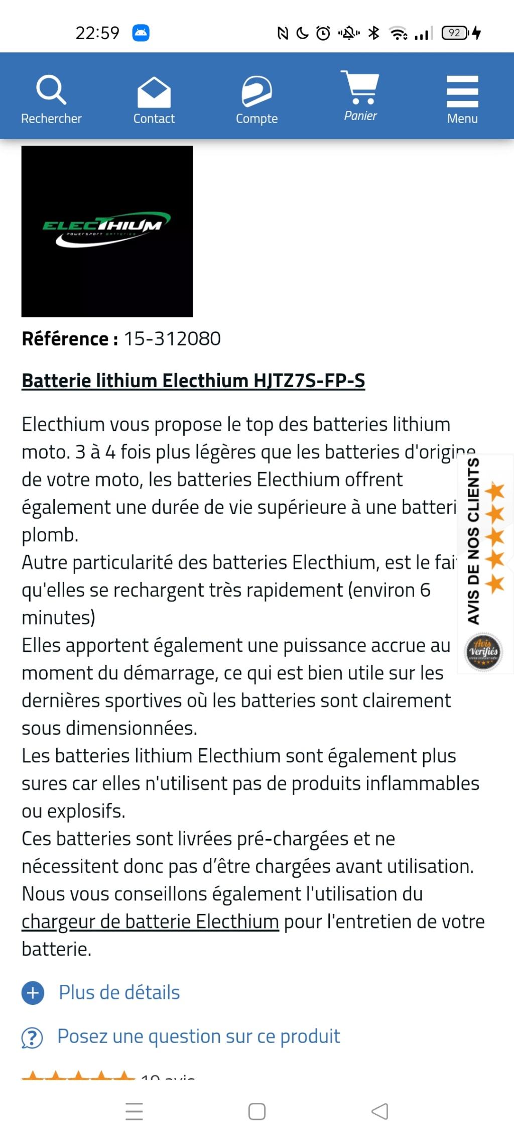 Batterie lithium Screen19