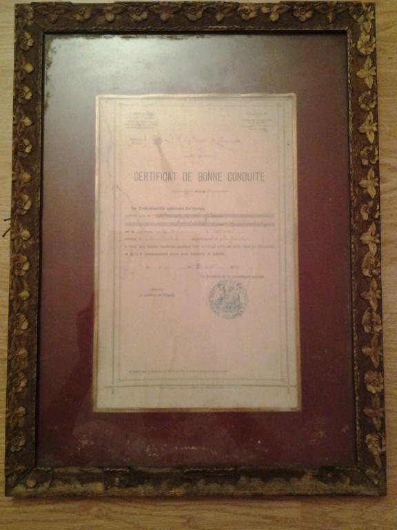 certificat de bonne conduite 2ème Zouaves 1912 Algérie Maroc  20170410