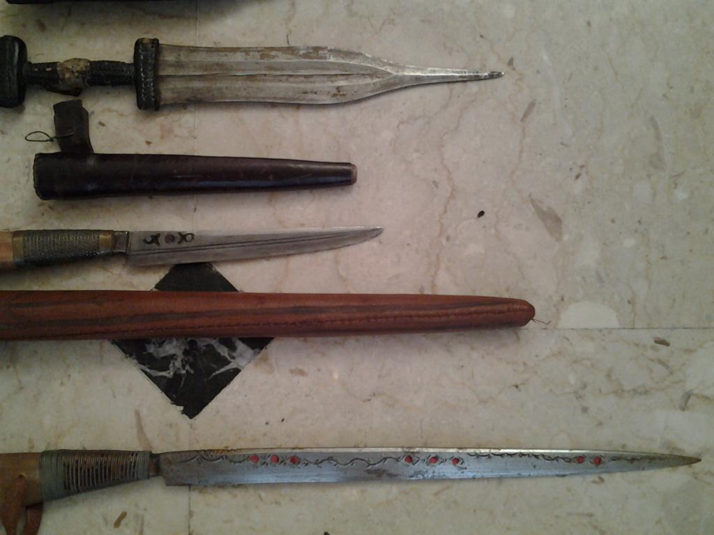 lot d'armes blanches Sahara français - takouba poignards  20180920
